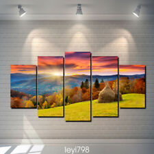 oil painting HD Print on canvas Modern Home Decor Sunset scenery 5pcs
