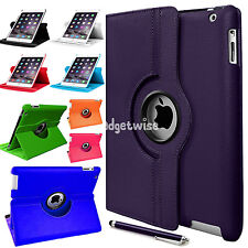 New For All Apple iPad Models Rotate Swivel 360  Rotate Book Stand PU Case Cover