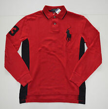 100% Authentic Polo Ralph Lauren Red/Black Big Pony Shirt Custom Fit Big & Tall