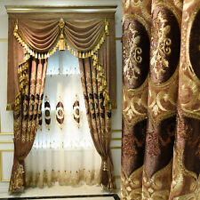 luxury European drapes chenille embroidery thick cloth curtain valance E727