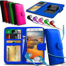 For BenQ F3 - Clip On PU Leather Wallet Case & Earphone