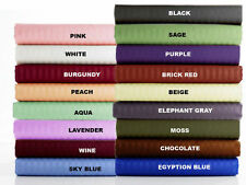 100% EGYPTIAN COTTON 1000 TC FITTED SHEET ALL COLORS QUEEN SIZE