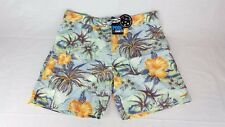 Hawaiian Style Floral Palm Tree Board Shorts Maui and Sons Swim Trunks NWT