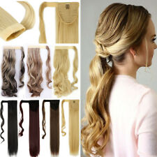 Hair Wrap Around Ponytail Clip in Hair Piece Extensions Magic Tape Blonde TBz