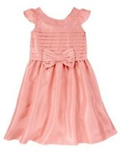 NWT Gymboree Spring Dressy Collection Pink Bow Dress 5 6 7 Easter Wedding Girl