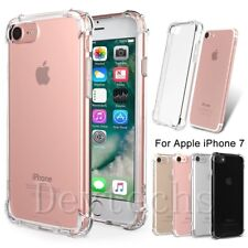 For iPhone 7 Slim Soft Gel Thickening Bumper Shockproof Crystal Clear Case Cover