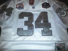 Brand New! BLUE! Oakland Raiders Throwback #34 Bo Jackson 2Patches SEWN Jersey