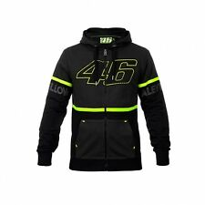 2017 OFFICIAL Moto GP VR46 Valentino Rossi VALEYELLOW Zip Hoody Black MENS - NEW