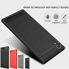 Shockproof Hybrid Brushed Carbon Fiber TPU Soft Case For Sony Xperia XA1 Urtla +
