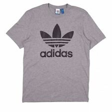 ADIDAS ORIGINALS TREFOIL T-SHIRT TEE GREY CREWNECK SHORT SLEEVE 100% COTTON
