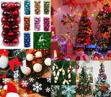 Christmas Snowball Balls bow deer Xmas Tree Hanging Decoration Party Ornaments