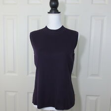 NWT Ming Wang Women's Tank Top Mock Neck Sz XSmall  Medium Burgundy Travel