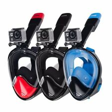 KUOKEL Full Face Snorkel Mask 180° Panoramic Snorkel Mask Goggle Scuba for Gopro