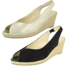 Ladies Van Dal Leather Wedge Sandal With Woven Detail Avalon