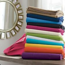 1000 Count 100%Egyptian Cotton Fitted Sheet/Flat Sheet Choose Color US-Size