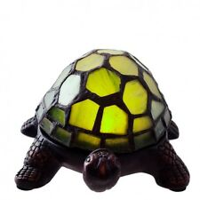 Stained Glass Turtle Lamp Lighting Green Desk Lamps Night Light Cordless Battery
