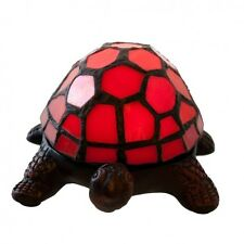 Stained Glass Turtle Lamp Lighting Red Desk Lamps Night Light Cordless Battery