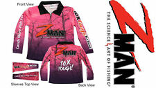 Zman Ladies PINK Tournament Fishing Shirt Z-man BRAND NEW WITH TAGS Z Man Womens