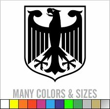 German Eagle Crest Deutschland Germany Flag Panzer Decal Sticker Sizes/Colors