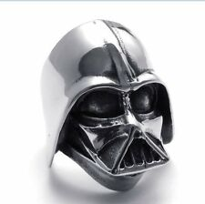 Mens Stainless Steel Ring Star Wars Darth Vader Helmet Band 12 11 Free Shipping