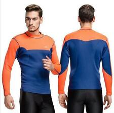 2mm Neoprene Thick CONTRAST Mens Rash Guard Shirt Wakeboard Drysuit Wetsuit Tops
