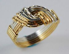 NWT Lovers Knot Ring Sterling Silver 14K Gold Fill Rose Gold Fill Artisan Made