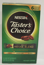 Nescafe Taster's Choice Instant Coffee Beverage House Blend, Red & Decaf, Pack 8