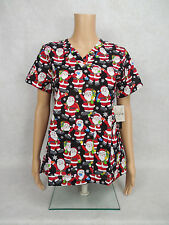 "Med Couture Christmas Scrub Top Style 9424 Anna. ""HO HO HO"" HOHO *NEW*"