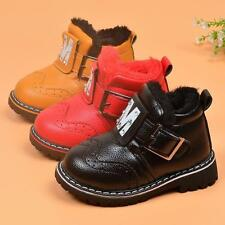 Infant Kids Baby Girls Boys Warm Shoes Winter Snow Boots Leather Shoes New