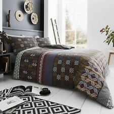 Tribal African Ethnic Masai Moroccan Aztec Black Red Duvet Quilt Cover Bedding