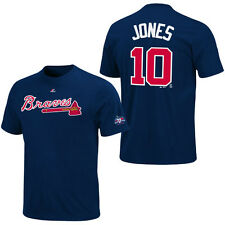 2012 Chipper Jones Atlanta Braves Player Jersey T-Shirt Retirement Patch Youth M