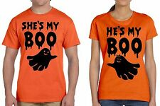 Halloween Couple T shirts Boo Funny Ghost Halloween Couple Costumes T shirt
