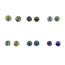 6pcs Hollow Filigree Round Ball Spacer Beads for Necklace Bracelet Findings
