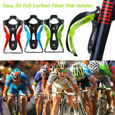 3K Full Carbon Fiber Bicycle Cycling Bike Drink Water Bottle Cage Holder w/Screw