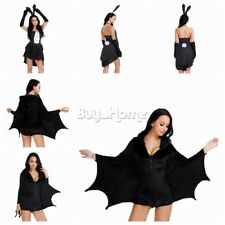 Halloween Bunny Rabbit Bat Batgirl Womens Costume Party Fancy Dress Queen Hens