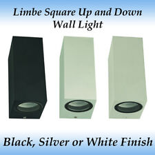 Up and Down Limbe Square GU10 Exterior Wall Light with various Globe Options