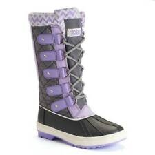 NIB $60-Girls Totes Purple Selena Waterproof Winter Snow Duck Boots-sz 12, 13, 1