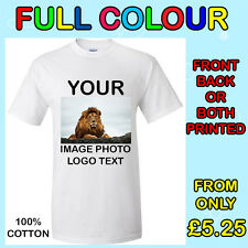 Your Image Text  Photo Logo - T-Shirt Printing Personalized Stag Hen Party DTG
