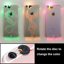 Change Color LED Flash Light Up Transparent TPU Phone Cover Case For IPhone 7