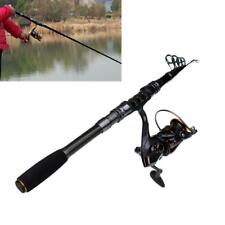 Telescopic Fishing Rod Combo Spinning Pole with Reel Travel Portable Kits