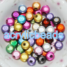 4-20mm Acrylic Miracle Round Spacer Beads 3D illusion Plastic Beads DIY Necklace