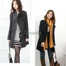New Korea Slim Fit Women Fashion Coat stand-up Collar Double-breasted OK02 01