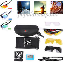 Polarized Cycling Glasses Outdoor Sport Sunglasses UV400 3 lenses & Myopia Frame