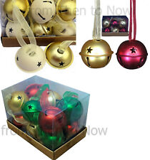 Gisela Graham Box Set Of 12 Jingle Sleigh Bell Christmas Tree Decorations Bauble