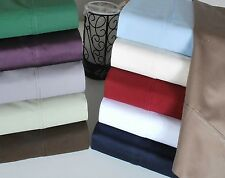 All Solid Color 4pc Bedding Sheet Set 1000TC 100% New Egyptian Cotton King Size