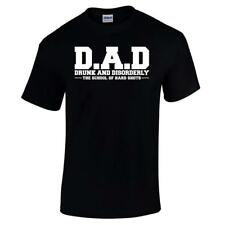 D.A.D Drunk And Disorderly Funny Fathers Day Birthday Present Gift Mens T Shirt