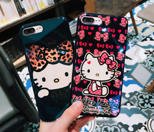 Lovely Hello kitty Glossy Soft case cover Pouch for Apple iPhone 6 6S 7 & Plus