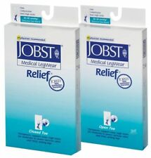 Jobst Relief Unisex  Knee High Firm  Compression Socks Beige Open or Closed Toes