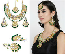 Indian Gold Plated Pearl Necklace Earring Set Boolywood Beautiful Bridal Jewelry