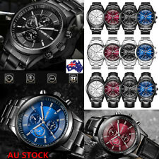 Luxury Men Fashion Waterproof Quartz Analog Wrist Watch Business Casual Watch